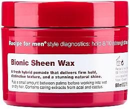 Perfumería y cosmética Cera para cabello, efecto brillo - Recipe for Men Bionic Sheen Wax