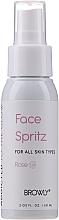 Perfumería y cosmética Spray tonificante y fijador de maquillaje con agua de rosa - Browly Face Spritz Spray