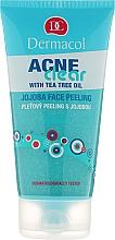 Perfumería y cosmética Exfoliante facial con aceite de árbol de té & jojoba - Dermacol Acne Clear Jojoba Face Peeling