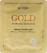 Perfumería y cosmética Mascarilla facial de hidrogel con complejo de oro, extracto de ginseng - Petitfee&Koelf Gold Hydrogel Mask Pack +5 Golden Complex