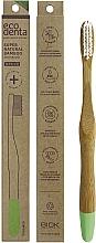 Perfumería y cosmética Cepillo dental de bambú de dureza media, verde claro - Ecodenta Bamboo Toothbrush Medium