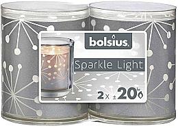 Perfumería y cosmética Portavelas, 2uds. - Bolsius Sparkle Lights Crystal Silver Candle