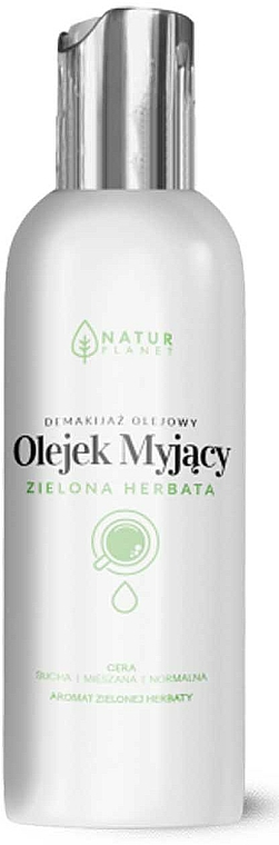 Aceite facial desmaquillante con té verde para pieles secas, mixtas y normales - Natur Planet Washing Oil Green Tea