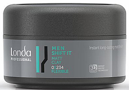 Perfumería y cosmética Arcilla para cabello de fijación flexible, acabado mate - Londa Professional Men Shift It Matt Clay