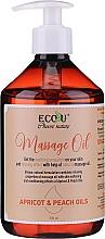 Perfumería y cosmética Aceite de masaje con albaricoque y melocotón - Eco U Massage Oil Sweet Apricot & Peach Oil