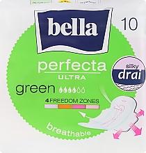 Perfumería y cosmética Compresas con alas transpirables 4 gotas Perfecta Green Drai Ultra, 10uds. - Bella