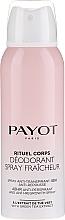 Perfumería y cosmética Desodorante spray antitranspirante, sin alcohol - Payot Rituel Corps 48H Antiperspirant Alcohol Free