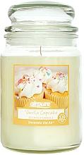 Perfumería y cosmética Vela perfumada en tarro con aroma a cupcake de vainilla - Airpure Jar Scented Candle Vanilla Cupcake