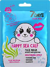Perfumería y cosmética Mascarilla facial con extracto de algas y musgo - 7 Days Animal Happt Sea Calf