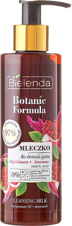 Leche desmaquillante con aceite de granada y amaranto - Bielenda Botanic Formula Pomegranate Oil + Amaranth Cleansing Milk