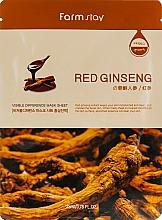 Perfumería y cosmética Mascarilla facial de tejido con extracto de ginseng rojo - Farmstay Visible Difference Mask Sheet