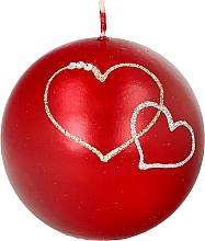 Perfumería y cosmética Vela decorativa en pelota roja 8cm - Artman Forever