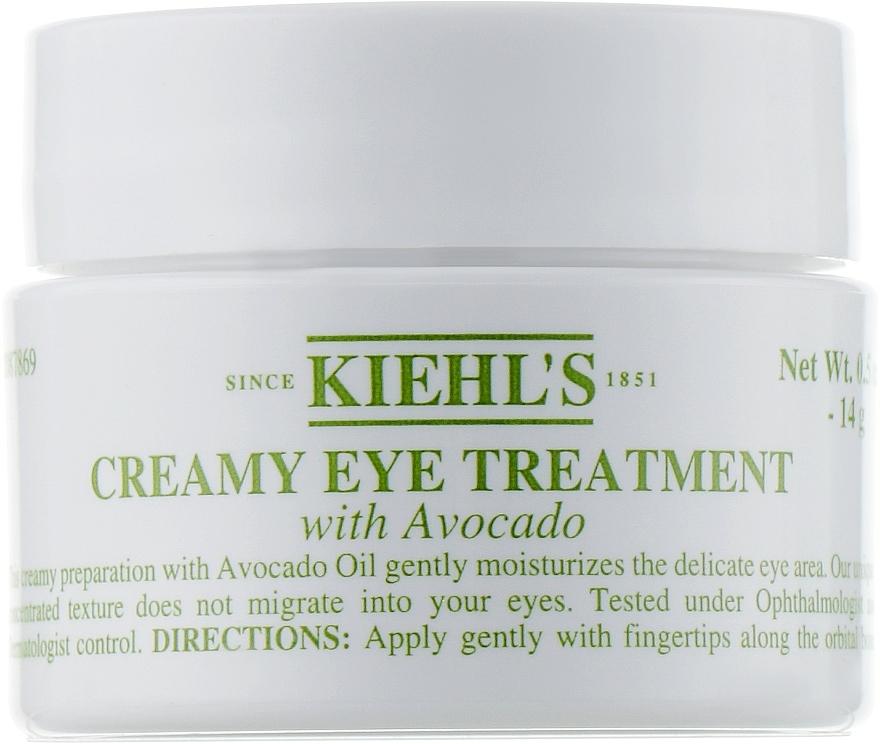 Crema para contornno de ojos con aguacate - Kiehl`s Creamy Eye Treatment with Avocado