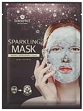 Perfumería y cosmética Mascarilla facial de tejido con agua carbonatada, extracto de mora y carbón activado - Shangpree Sparkling Mask