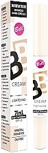 Perfumería y cosmética Corrector cremoso BB de ojos con pigmentos minerales, SPF 15 - Bell BB Cream Lightening 7in1 Eye Concealer