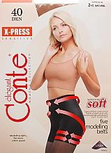 Perfumería y cosmética Pantis X-press, 40 Den, natural - Conte
