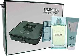 Perfumería y cosmética Lolita Lempicka Green Lover - Set (eau de toilette/100ml + gel aftershave hidratante/75ml + neceser cosmético)