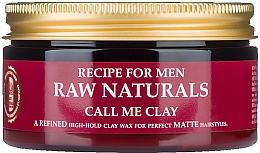 Perfumería y cosmética Cera para cabello con arcilla suave y extracto de lúpulo semi mate - Recipe For Men RAW Naturals Call Me Clay
