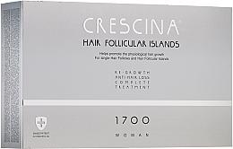 Perfumería y cosmética Complejo terapéutico contra la caída del cabello para mujeres 1700 - Crescina Hair Follicular IslandRe-Growth+Anti-Hair Loss HFI 1700 Woman
