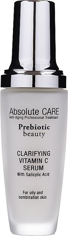 Sérum facial antiedad con vitamina C y ácido salicílico - Absolute Care Prebiotic Beauty Clarifying Vitamin C Serum
