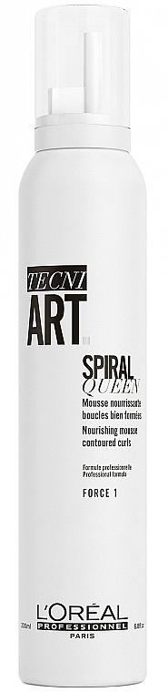 Mousse nutritivo para rizos de fijación flexible - L'Oreal Professionnel Tecni.Art Spiral Queen