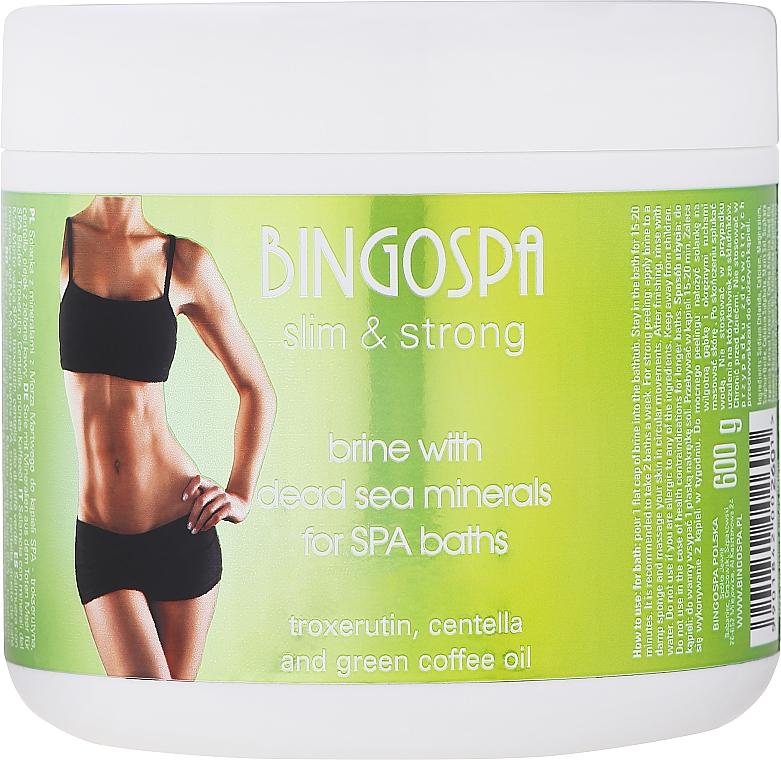 Sal de baño suave con minerales del Mar Muerto, extracto de centella, aceite de café verde - BingoSpa Slim & Strong