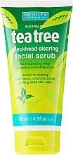 Perfumería y cosmética Exfoliante facial antiacné con aceite de árbol de té - Beauty Formulas Tea Tree Facial Scrub