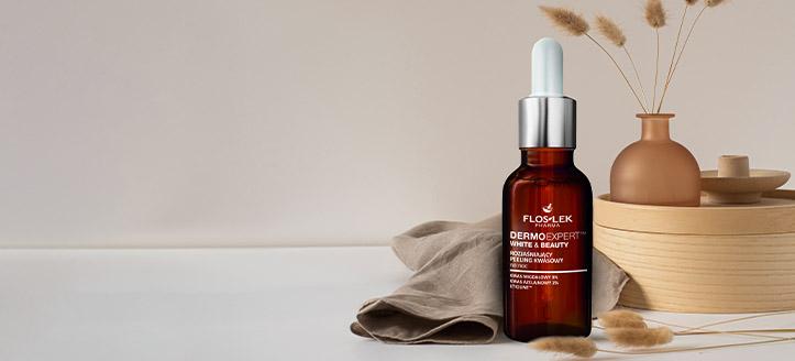 Por la compra de cualquier producto promocional Floslek, llévate un peeling ácido blanqueador facial de regalo