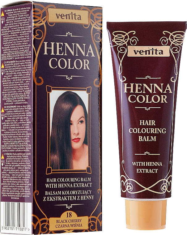 Bálsamo colorante de cabello con extracto de henna - Venita Henna Color