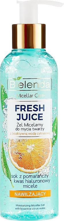 Gel micelar para rostro con agua cítrica bioactiva y ácido hialurónico - Bielenda Fresh Juice Micellar Gel Orange