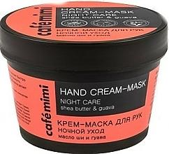 Perfumería y cosmética Mascarilla de manos cuidado nocturno con manteca de karité y guayaba - Cafe Mimi Hand Cream-Mask Night Care