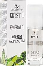 Perfumería y cosmética Sérum facial antiedad con polvo de esmeralda - SM Collection Crystal