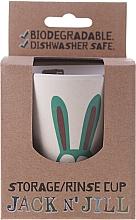 """Perfumería y cosmética Taza de enjuague bucal biodegradable de bambú & cáscaras de arroz """"Bunny"""" - Jack N' Jill"""