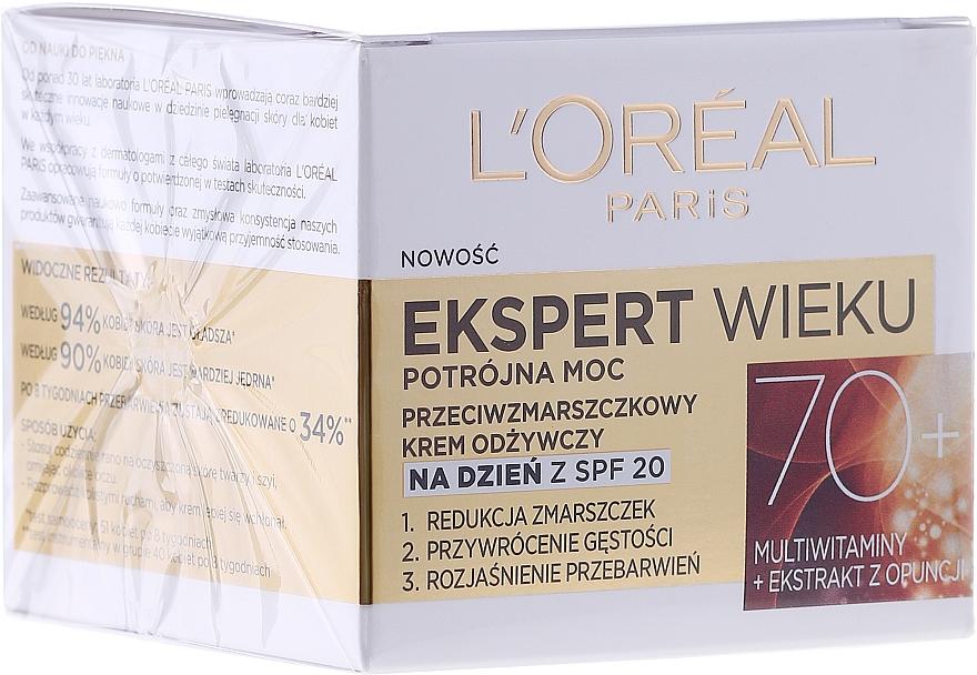 Crema de día vitaminada con extracto de opuntia - L'Oreal Paris Age Specialist Day Cream 70+