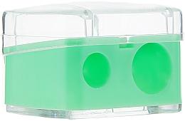 Perfumería y cosmética Sacapuntas doble para lapices de maquillaje, verde claro - Top Choice