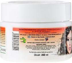 Crema mascarilla capilar con queratina y aceite de argán - Bione Cosmetics Keratin + Argan Oil Cream Hair Mask — imagen N2