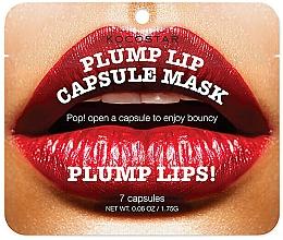 Perfumería y cosmética Cápsulas sérum para aumentar el volumen de los labios con aceite de jojoba, argán - Kocostar Plump Lip Capsule Mask Pouch