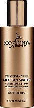 Perfumería y cosmética Tónico autobronceador para rostro, cuello y escote con ácido hialurónico - Eco by Sonya Eco Tan Face Tan Water