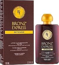 Perfumería y cosmética Loción autobronceadora intensiva con color para rostro y cuerpo - Academie Bronz'Express Intense Lotion