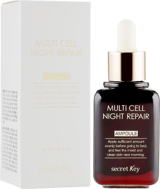 Sérum facial de noche reparador con extracto de camelia y uva - Secret Key Multi Cell Night Repair Ampoule