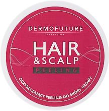 Perfumería y cosmética Exfoliante para cabello y cuero cabelludo con albaricoque triturado - DermoFuture Hair&Scalp Peeling