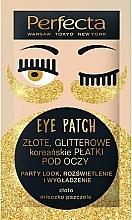 Perfumería y cosmética Parches para contorno de ojos con oro y jalea real - Perfecta Gold Glitter Eye Patch