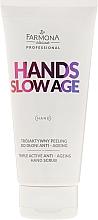 Perfumería y cosmética Exfoliante de manos antiedad con extracto de papaya y ácido de escaramujo - Farmona Professional Hands Slow Age Triple Active Anti-ageing Hand Scrub