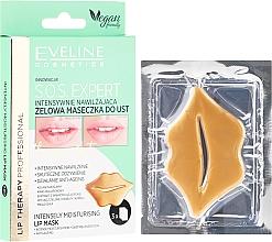 Perfumería y cosmética Mascarilla labial en gel con ácido hialurónico y manteca de karité - Eveline Cosmetics Lip Therapy S.O.S. Expert Intensely Moisturising Lip Mask