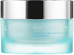 Perfumería y cosmética Crema facial con colágeno marino y extracto de perlas - Klavuu Blue Pearlsation One Day 8 Cups Marine Collagen Aqua Cream