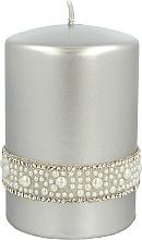 Perfumería y cosmética Vela decorativa color plateado 7x10cm - Artman Crystal Opal Pearl