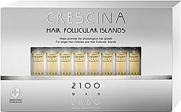 Perfumería y cosmética Tratamiento en ampollas estimulador del crecimiento de cabello para hombres 2100 - Labo Crescina Hair Follicular Island 2100 Man