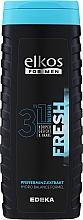 Perfumería y cosmética Gel de ducha para rostro, cuerpo y cabello con extracto de menta - Elkos For Men 3in1 Fresh Shower Gel