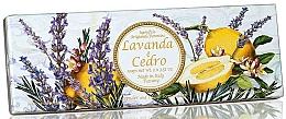 Perfumería y cosmética Set jabón artesanal natural con aroma a lavanda y cedro, 3uds. - Saponificio Artigianale Fiorentino Capri Lavender & Cedar (3uds./100g)