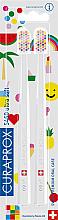 Perfumería y cosmética Set de cepillo dental, blanco, 2uds. - Curaprox Ultra Soft Pop Art Edition